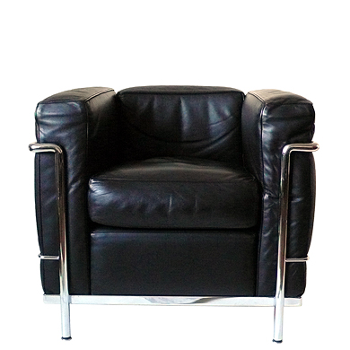 detail sofa sessel le corbusier charlotte perriand pierre jeanneret lc2 fauteuil grand. Black Bedroom Furniture Sets. Home Design Ideas